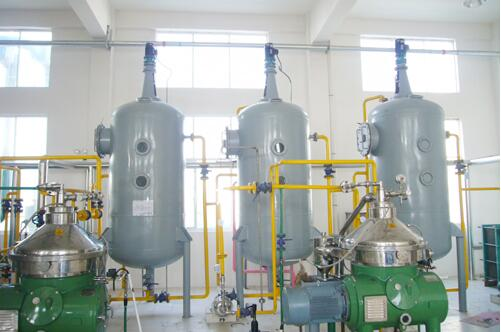 degumming section of vegetable oil refinery process