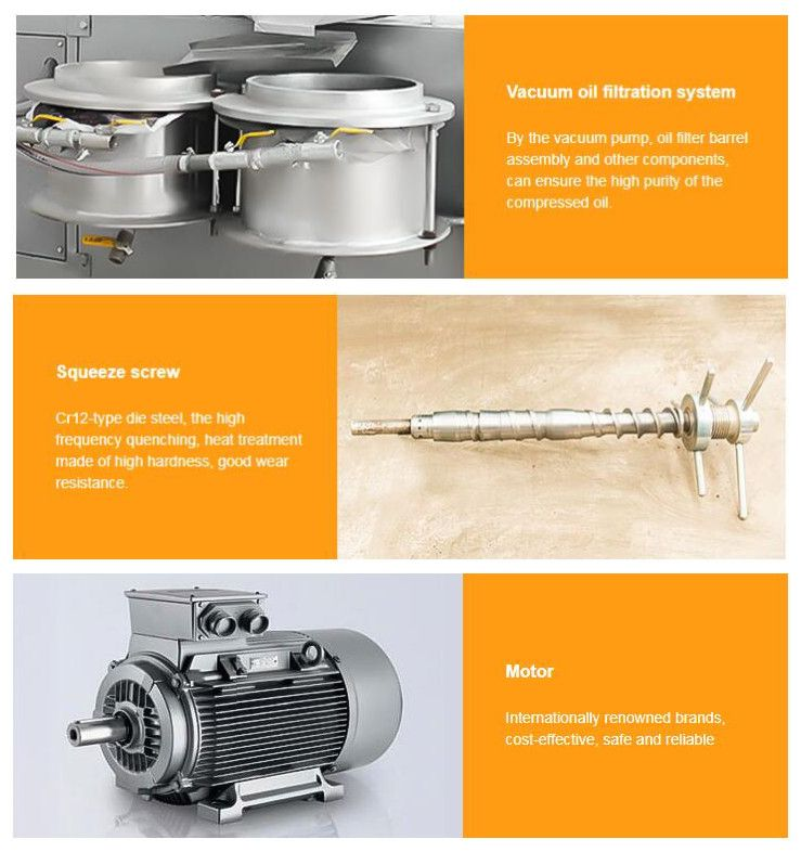 detailed parts of groundnut oil press machine