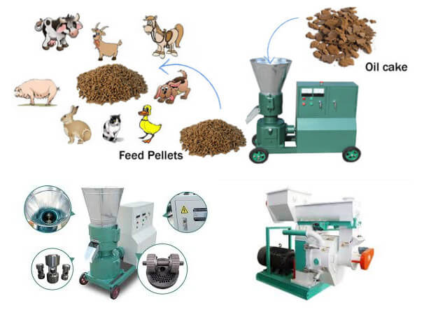 oilcakes pelletizing machines for making feed pellet from oilcakes