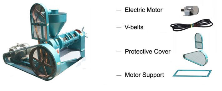 optional parts of screw oil press