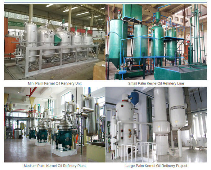 palm kernel oil refining plant with different sizes for choice