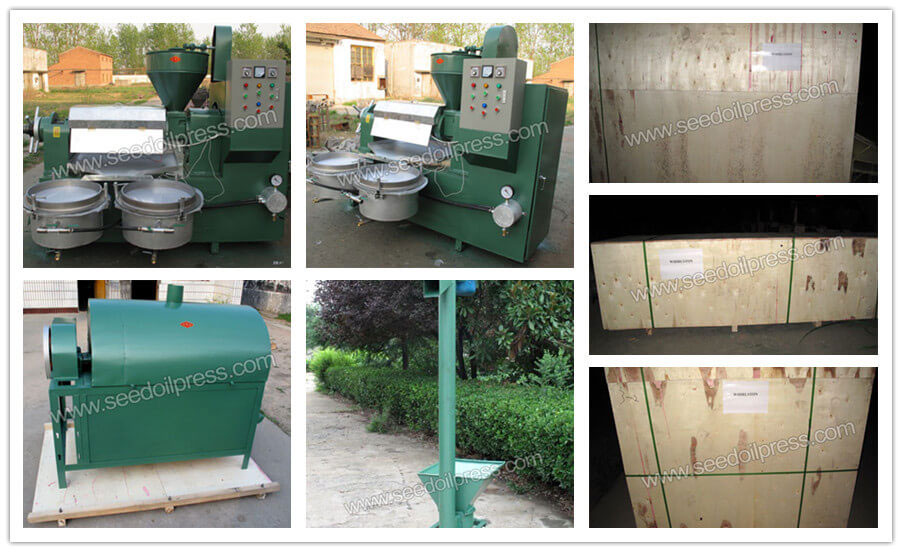 soybean & flaxseed oil expellers and roaster machine exported to Greece