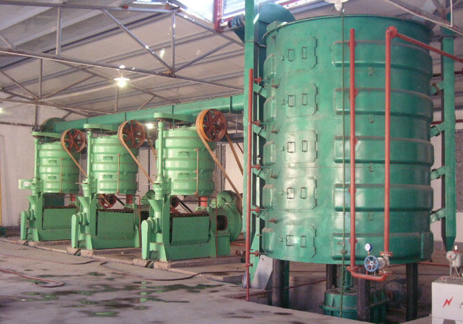 vertical oilseeds cooking machine