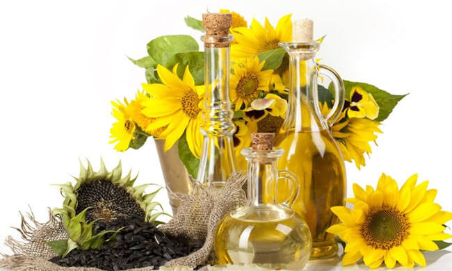 sunflower seeds and sunflower oil