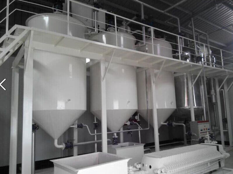 1-5 ton per day edible oil refinery machinery unit