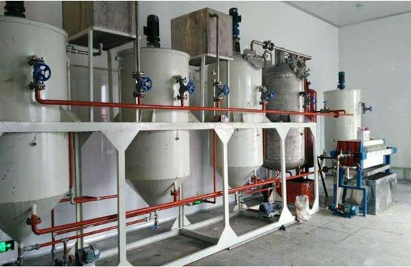 flaxseed refining plant includes debittering