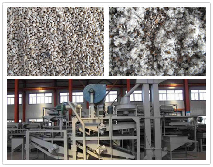 cottonseed hulling equipment with separator