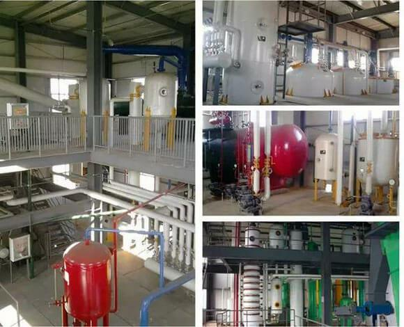 evaporator,stripping tower,condenser,etc. of corn oil extraction workshop