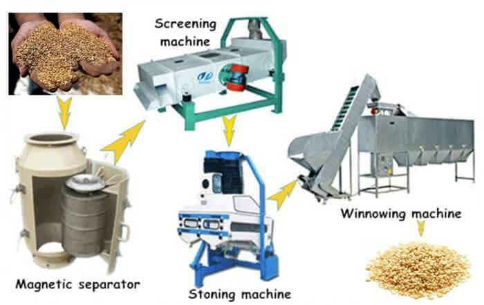 sesame selecting processes machines